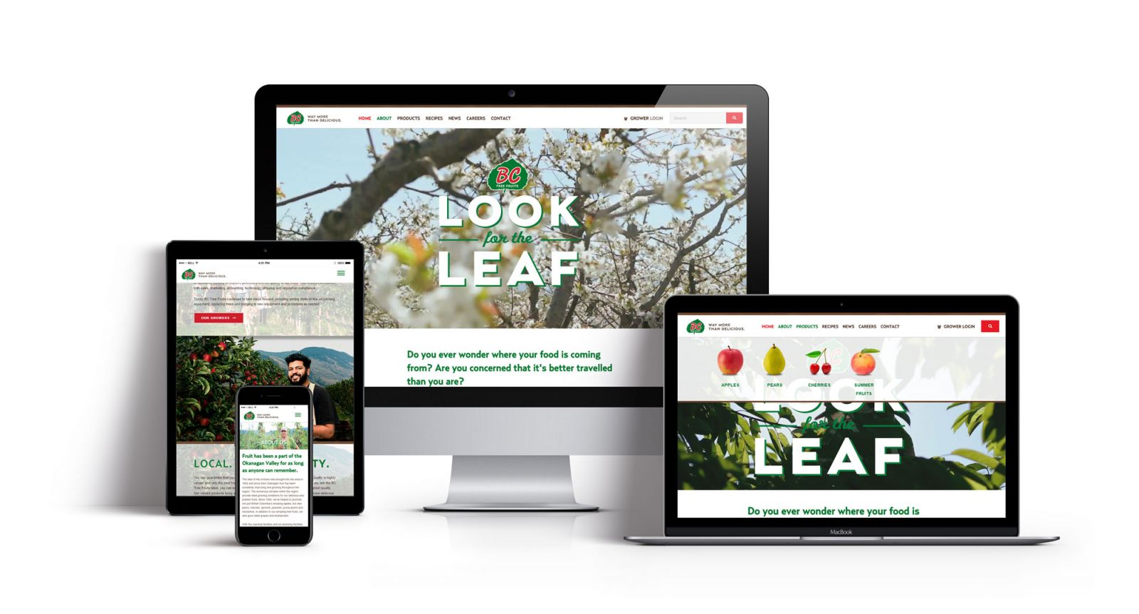 BC Tree Fruits website design