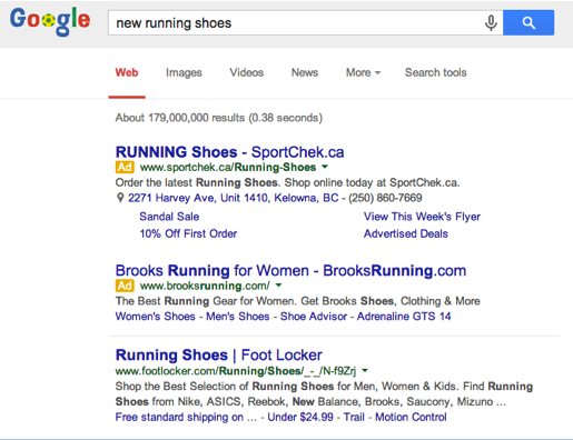 adwords search example