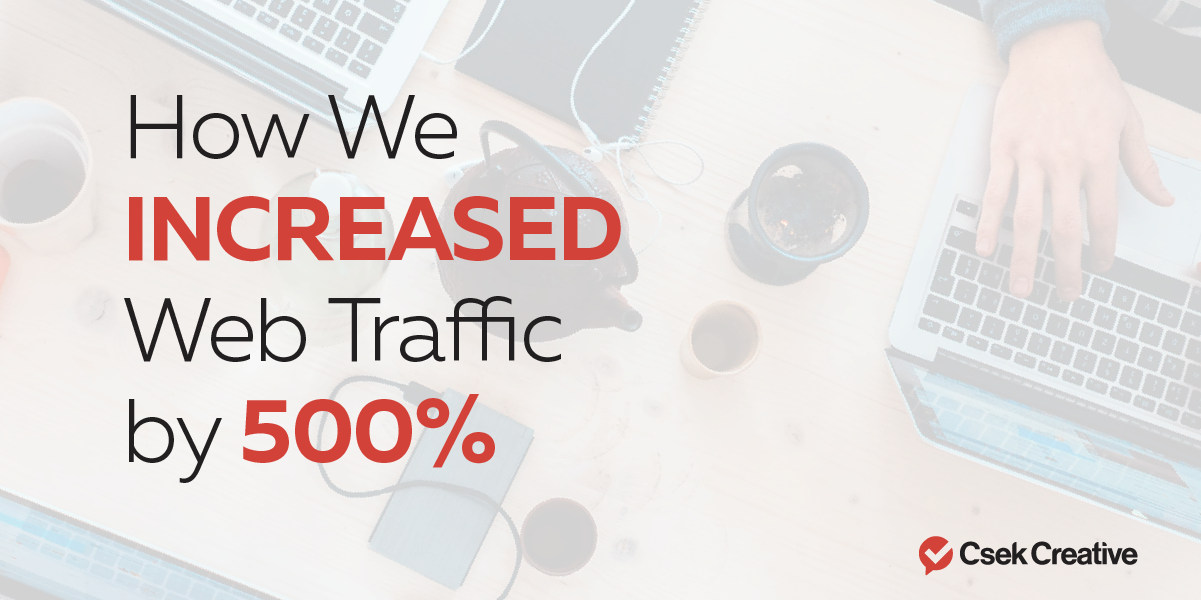 How we increased web traffic by 500%