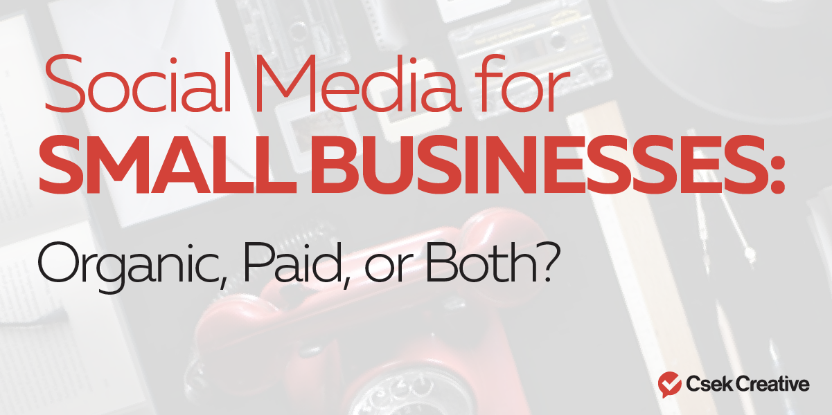 Social Media for Small Businesses: Organic, Paid or Both?