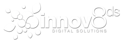 Innov8 logo. Web development project by local Kelowna design and marketing agency, Csek Creative.